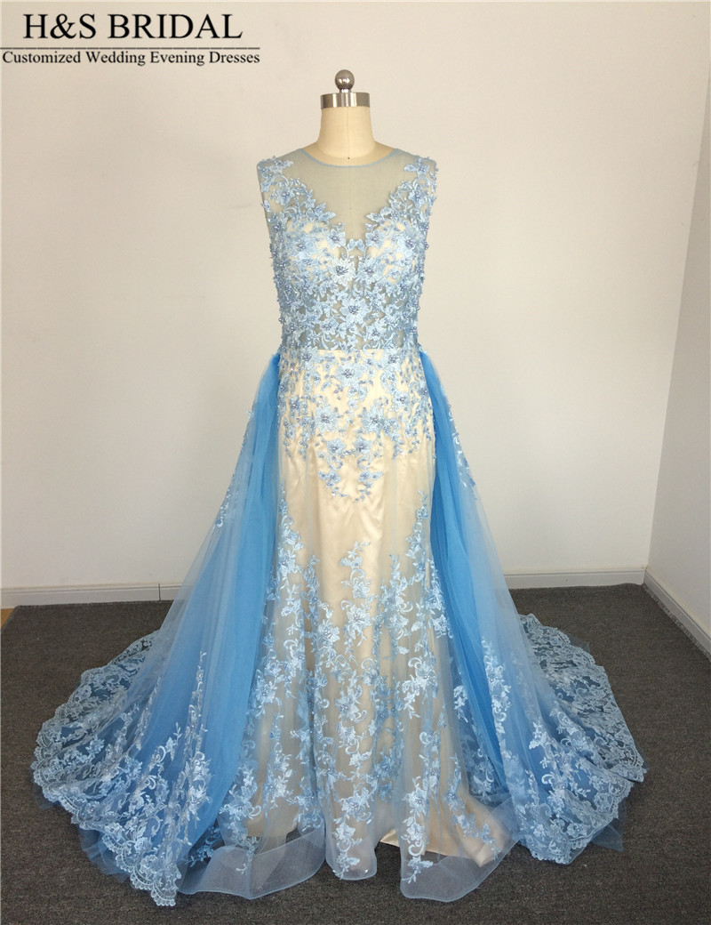 Light blue lace wedding dress images for Light blue dress for wedding