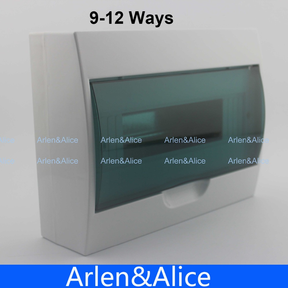 9-12 ways Plastic distribution box for circuit breaker indoor on the wall