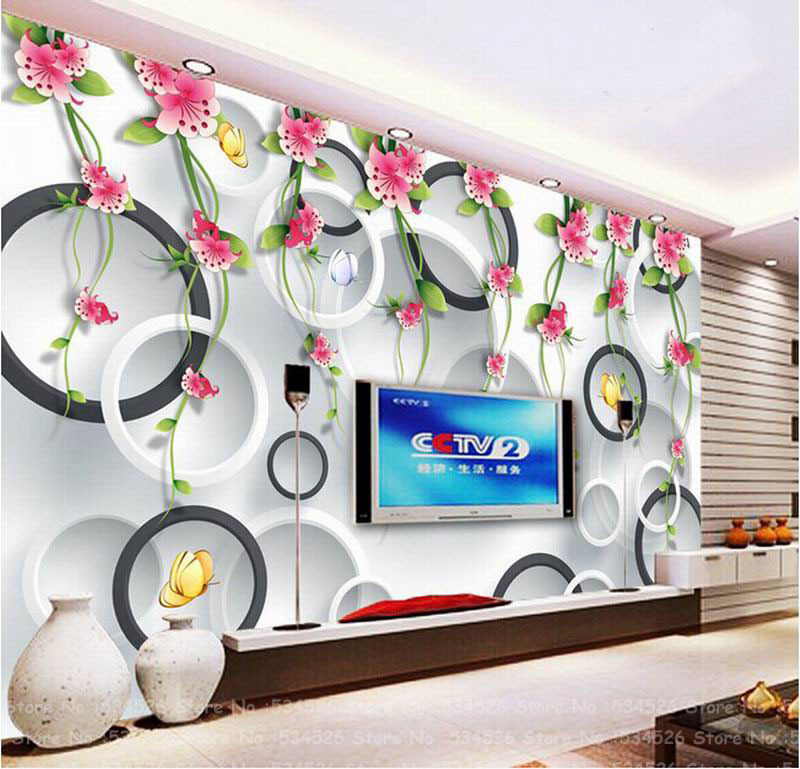 loveliness 3d wallpaper nature flower fresco papel de parede tapete