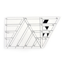 1pcs Acrylic Material Multifunction Quilting Ruler Shaped Like A Trapezoid