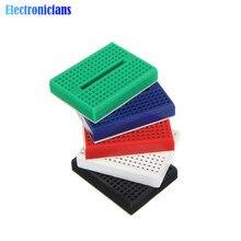 5PCS SYB-170 Prototype Experiment Test Protoboard 170 Tie-Points Mini Solderless Breadboard Shield For Arduino 5 Colors
