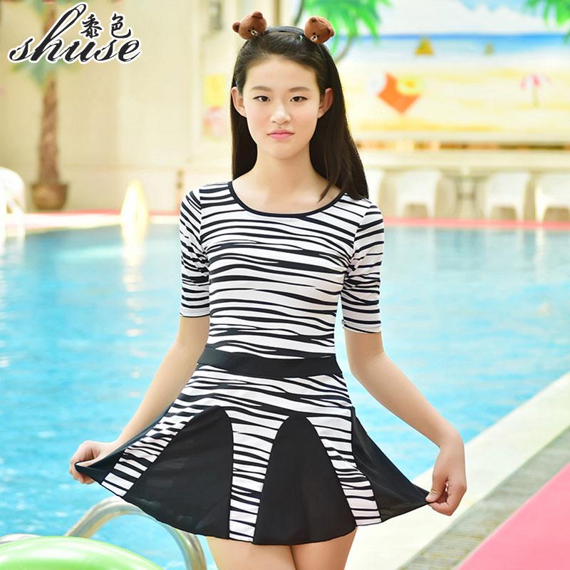 Aliexpresscom  Buy Shuse New Big Girl Swimwear One Piece -9806