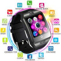 Reloj Inteligente Bluetooth Q18 compatible con tarjeta Sim TF hombres mujeres Reloj Inteligente para IOS Android Samsung Xiaomi Huawei PK A1 y1 Q8