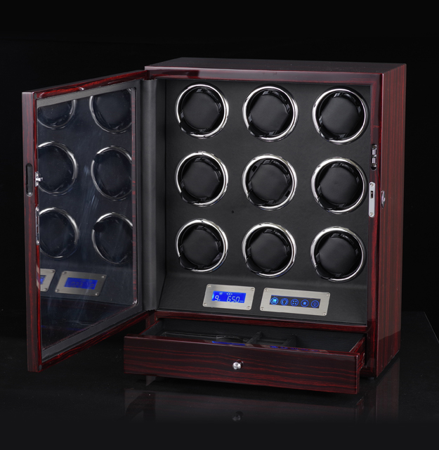 Wooden-Quad-Automatic-Watch-Winder-Storage-Boxes