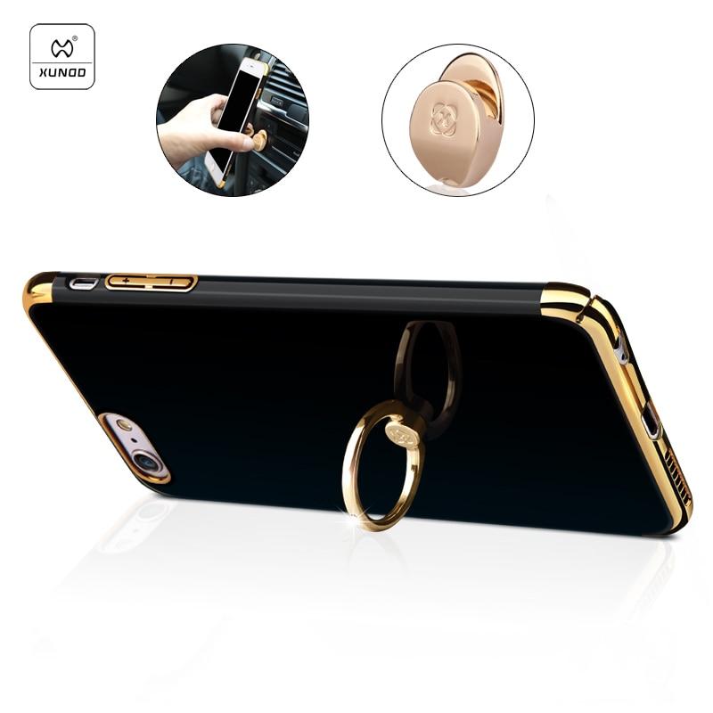 imágenes para Xundd SE funda de lujo para el iPhone caso trasero Duro para el iPhone 6 6 s Más 5.5 pulgadas funda protectora con soporte del anillo del coche ganchos