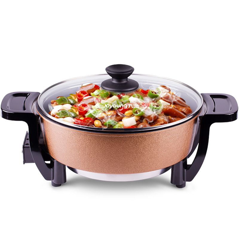 лучшая цена Jy11 home electric cooker Nonstick Multi Cooker hot pot Nonstick electric wok Stew pot 3L 1200W 5gear with Reinforced glass lid