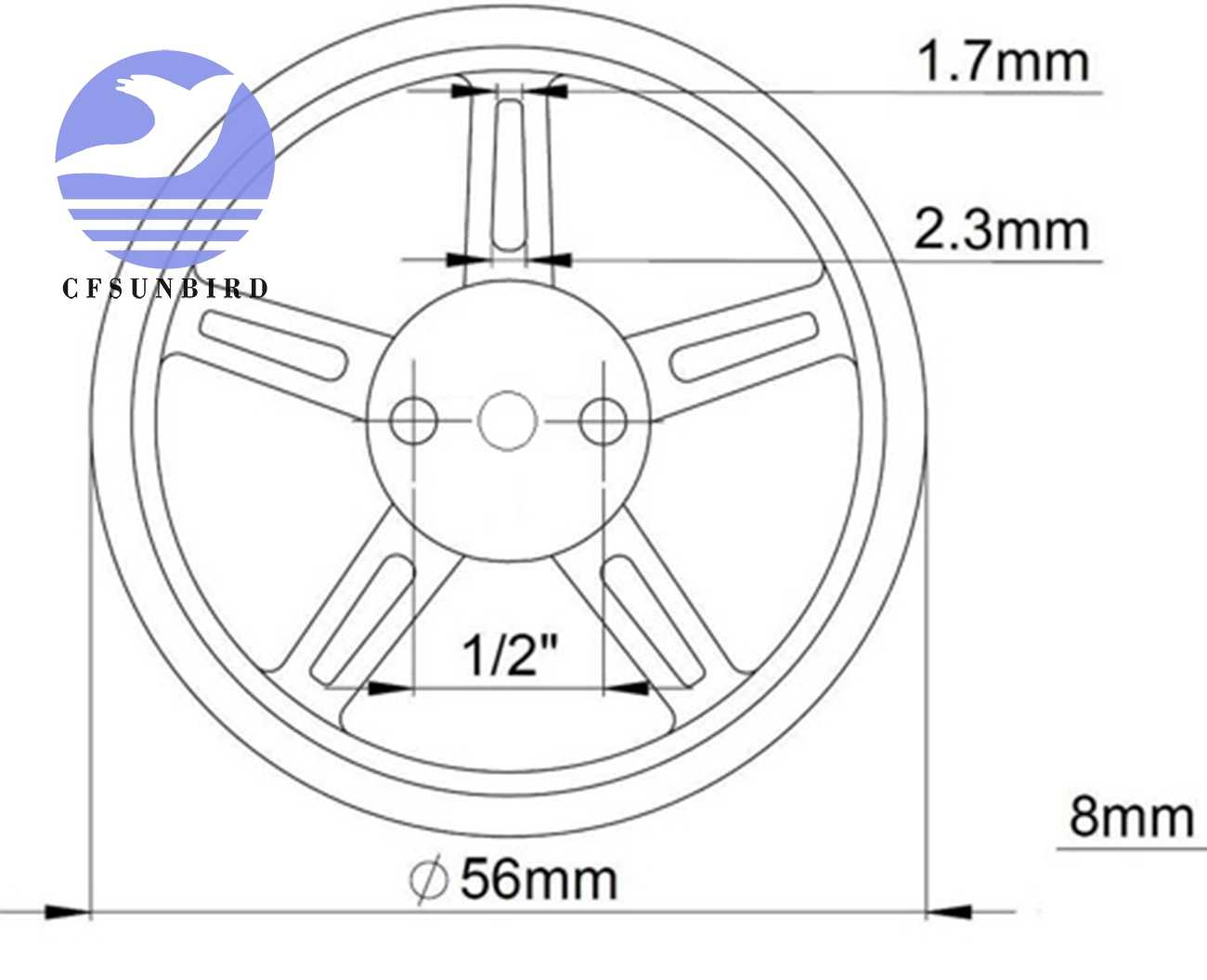 10 pcs גלגל עבור SG90 9g 360 תואר רציף סיבוב מיקרו רובוט סרוו FS90R
