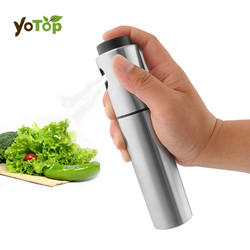 YOTOP Stainless Steel Spray Pump Fine Mist Olive Pump Spray Bottle Oil Sprayer Pot Cooking Tool Barbecue