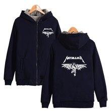 ALIZAZA American heavy metallica Hoodies Sweatshirts Metal Rock Band metallica Band THICKEN Hoodies Winter CLothes