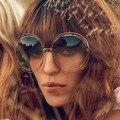Carlina Women Sunglasses CE114S Designer Brand New Female Glasses Round Over Size Oculos De Sol Retro Coating Fashion Style