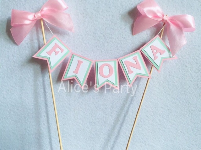 Personalisierte Kinder Madchen Name Kuchen Topper Bunting Baby