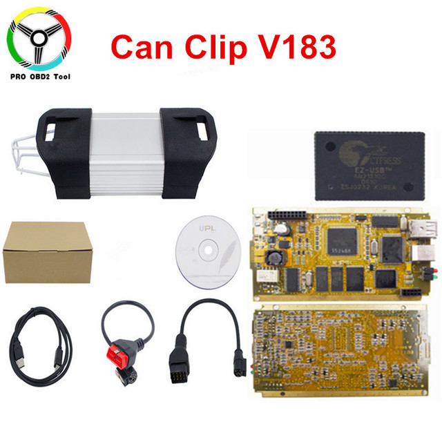 Newest Can Clip V183 Full Chip Gold AN2131QC CAN Clip OBD2 Diagnostic Tool Diagnostic Interface Scanner