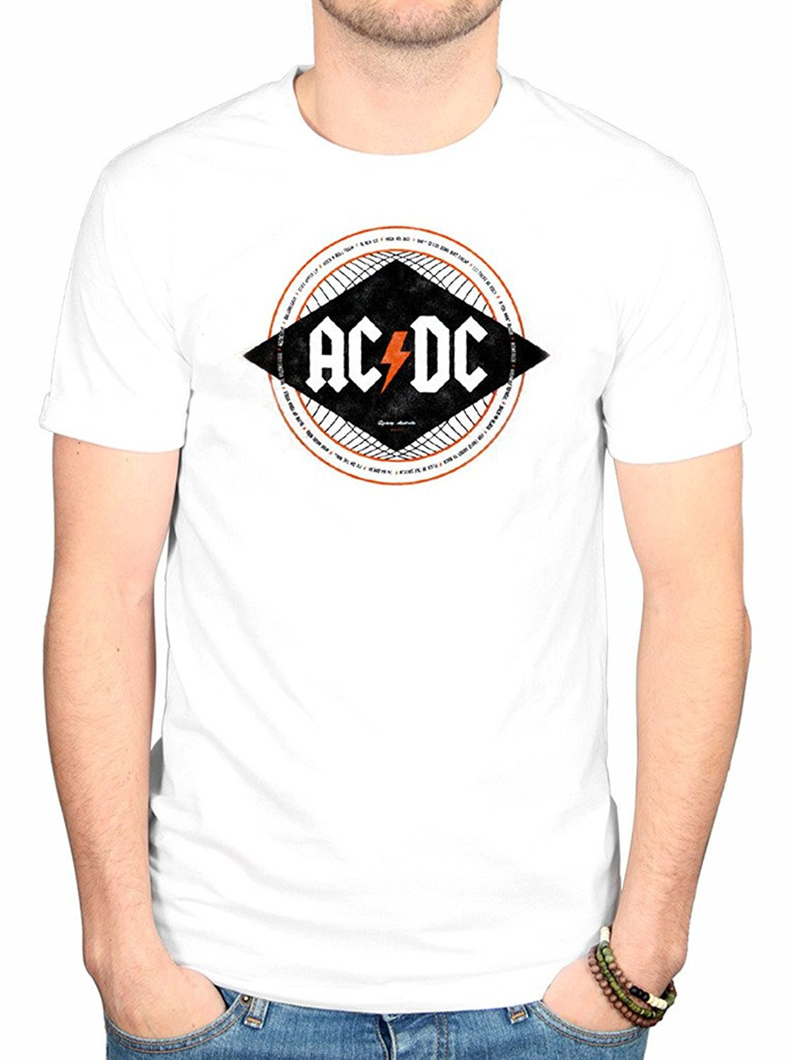 Gildan AC/DC Diamond T-Shirt Dirty Deeds Back In Black Album High Voltage ...