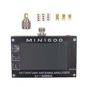 "Image 5 - 안테나 카운터 mini600 hf/vhf/uhf 안테나 테스터 미니 600 주파수 0.1 600 mhz 4.3 ""tft lcd 터치 스크린 안테나 분석기"