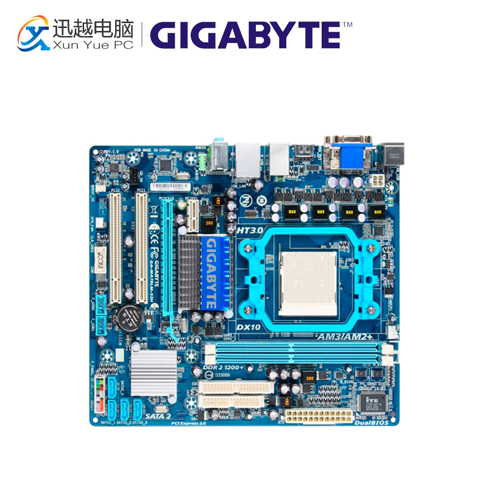 Gigabyte GA-MA78LM-S2H Desktop Motherboard 760G Socket AM2 DDR2 SATA2 USB2.0 Micro ATX for gigabyte ga ma78g ds3hp original used desktop motherboard for amd 780g socket am2 for ddr2 sata2 usb2 0 atx