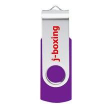 J-boxing USB Flash Drive 64GB 32GB 16GB 8GB 4GB Memory Stick Metal Rotating Thumb Pen for PC Mac Laptop