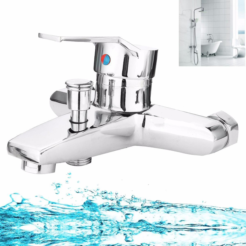 Chrome Bathroom Tub Shower Faucet Wall Mounted Bathroom Faucet Bath Valve Mixer Tap for Bathroom Shower Faucet