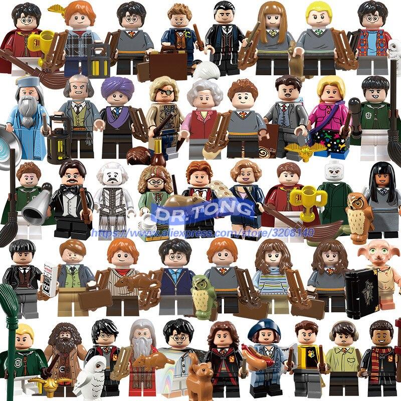 50pcs blocs de construction Harry Action potier figurines Dobby seigneur Voldemort Hermione Ron jouets enfants cadeaux BR209