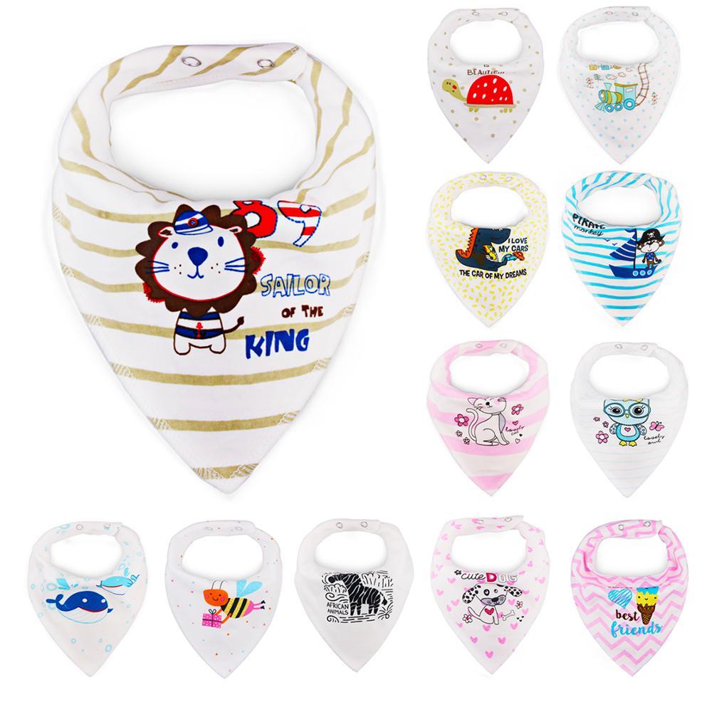 1pc Cotton Baby Boy Girl Scarf Towel Bandana Water Burp Apparel Accessories Pocket Squares Toddler Triangle Scarf Bandanas