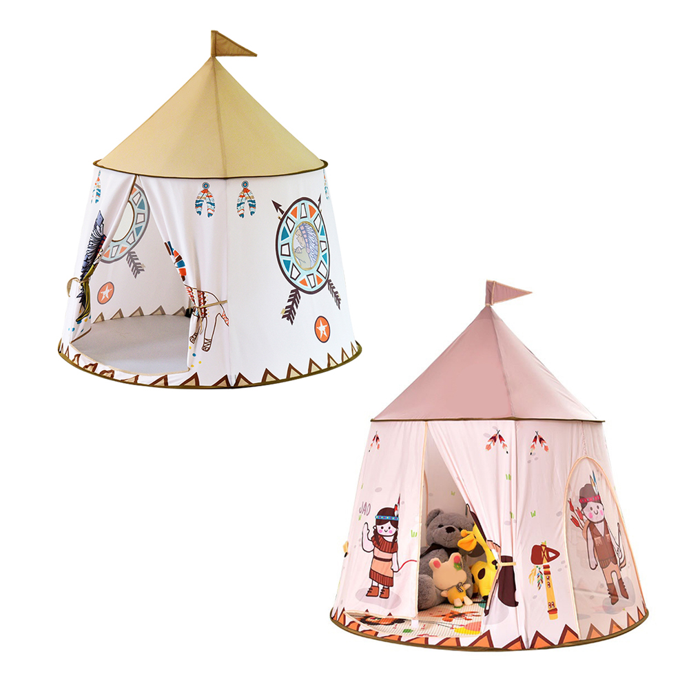 Indian Pattern Children Toy Tent Portable Princess Castle Play Tent Teepees Portable Playhouse for Kids yard indian pattern children toy tent teepees safety tipi portable playhouse kids teepee tents