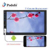 Podofo 2din Car Radio 7''Touch Screen MP5 Player Bluetooth USB AUX TF Autoradio Multimedia Player With Android Phone Mirror Link