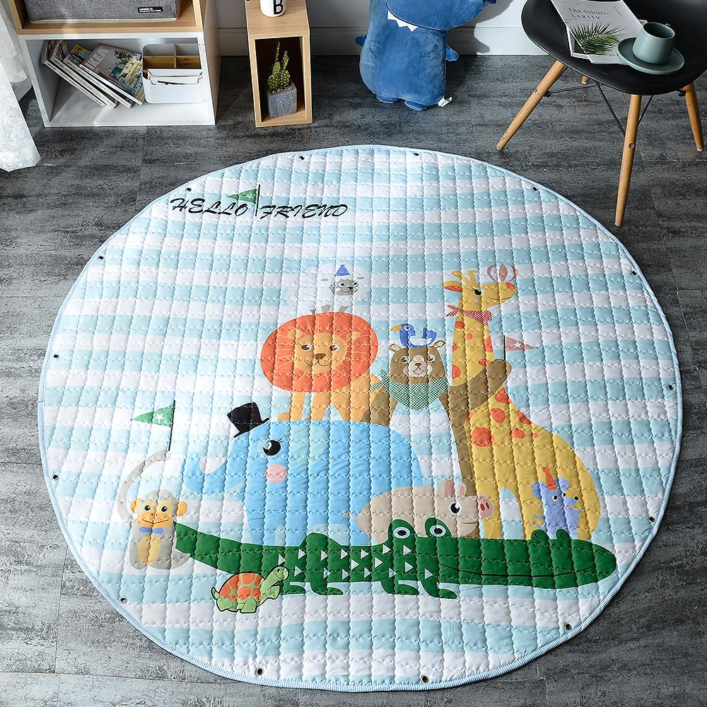 INS Baby Play Mats Kids Crawling Carpet Floor Rug Baby Bedding Elephant Blanket Foldable Storage Game Pad Children Room Decor