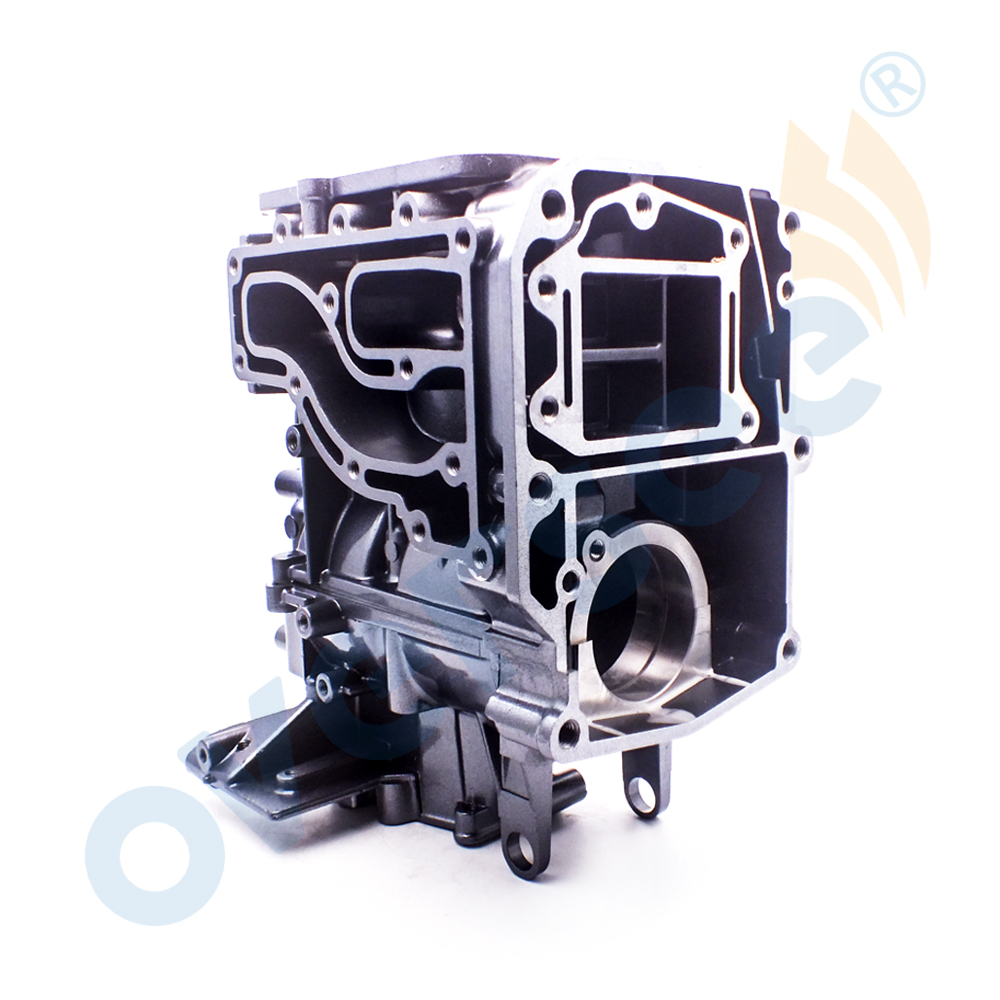 63V-15100-02-1S Cylinder Crank Case Assy For Yamaha 9.9HP 15HP Outboard Engine Parsun Powertec Boat Motor aftermarket Parts цена