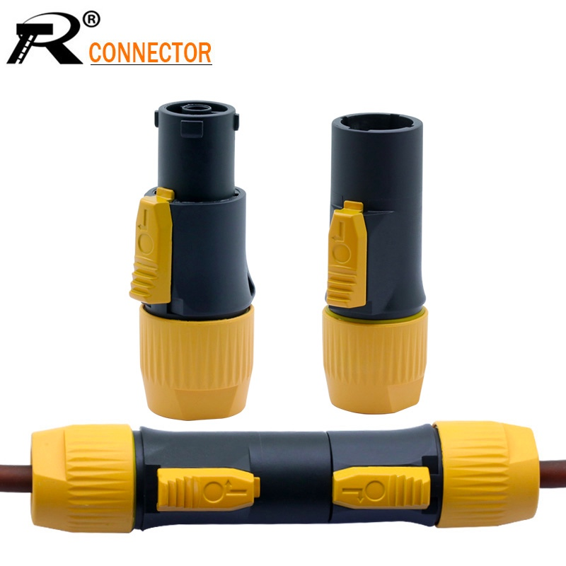 10pcs Waterproof 3 PIN Powercon Male/Female Plug Connector Put OUT/IN 20A/250V Power Connector For LED Large Screen Wholesales