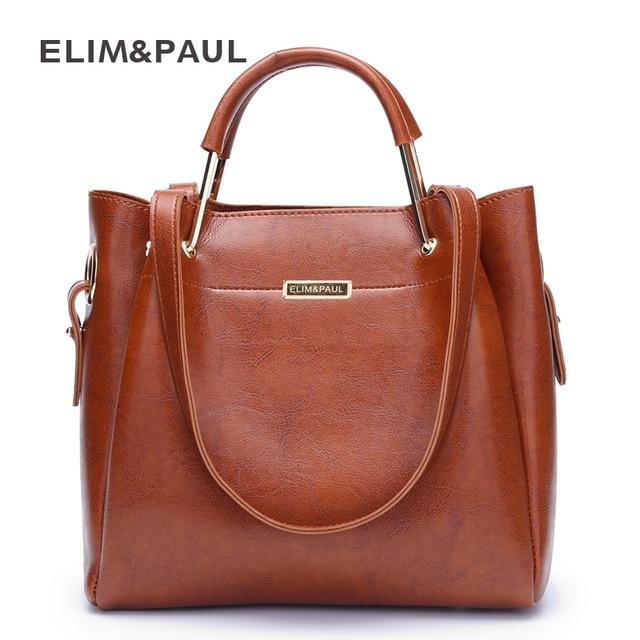 Элим и Paul модные дизайнерские женские Сумки из искусственной кожи сплав топ-ручка сумка большая емкость Bolsa мешочки женский сумка на плечо