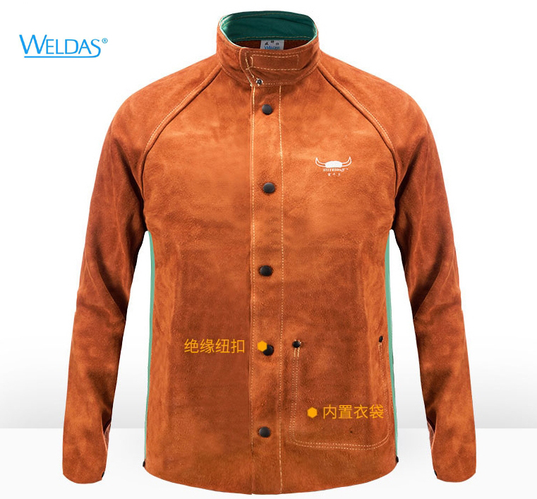 Cow Leather Welding Clothing Leather Welder Aprons Coverall Safety Clothing Split Cow Leather FR Cotton Welding Jackets one set leather welding strap trousers & coat protective clothing apparel suit welder safety clothing
