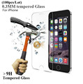 100pcs/Lot 9H 0.3mm 2.5d Ultra Thin Tempered Glass Screen Protector for iphone 5 5s 6 6s 6 Plus 7 7 plus Reinforced Front Film