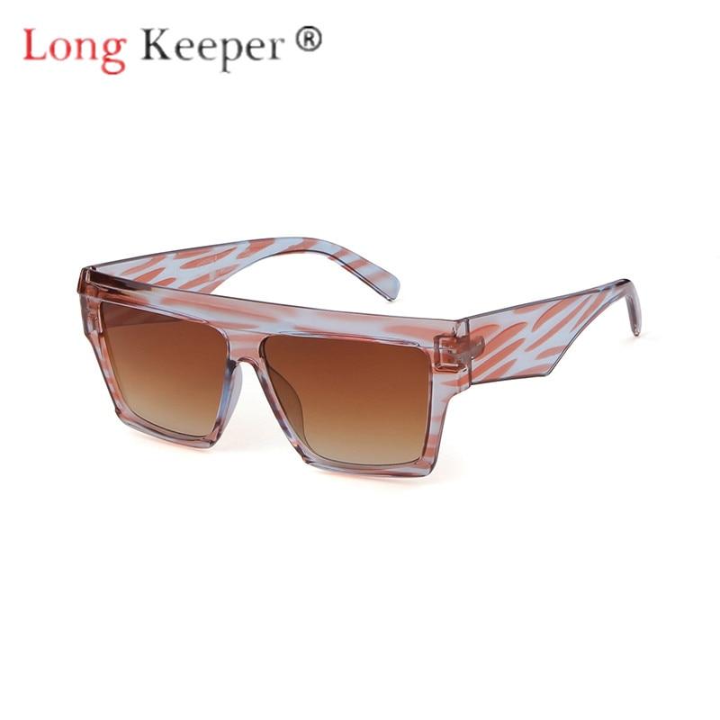 Erfinderisch Lange Keeper Sonnenbrille Männer Frauen Quadrat Sonne Gläser Brillen Brillen Brillen Pc Großen Rahmen Hd Objektiv Uv400 Tragen Mode Stick