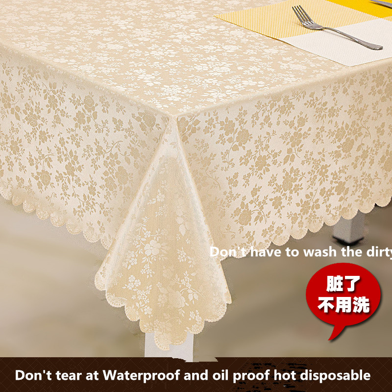European table protection against hot water oil hotel disposable rectangular cloth round