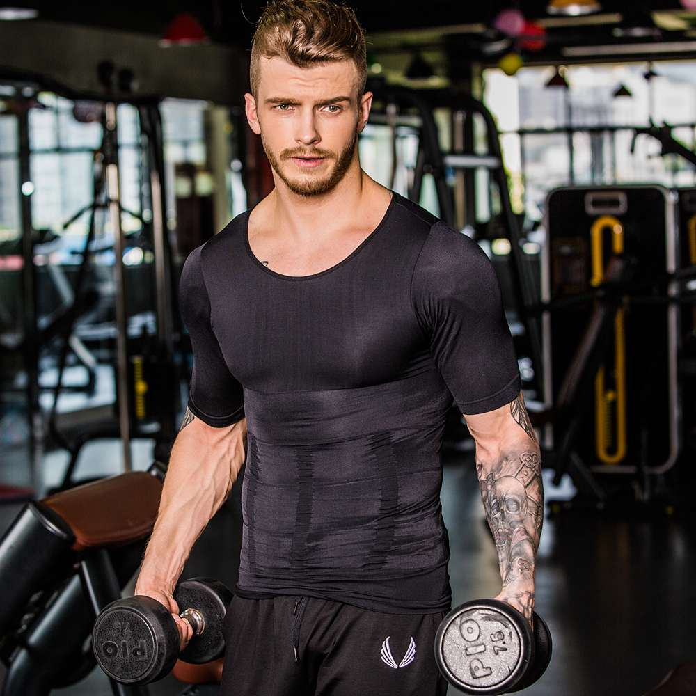 Neoprene Breathable Elastic Slimming Vest Men Tummy Slimming Corset Waist Trainer Fat Burning Weight Loss Bodybuilding Plus Size