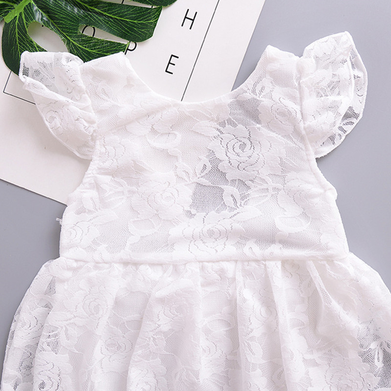 YOUKENITI 2018 New hot top sale lace sleeveless baby girls jumpers o neck solid Bodysuits clothings