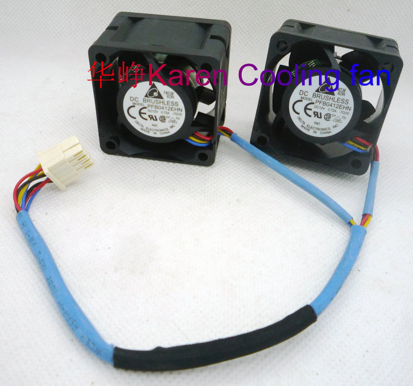 DELTA 4cm PFB0412EHN 4028 12V 0.72a 4wire Cooling Fan 1Set for 2pcs