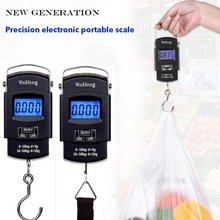 Junejour 50Kg/10g LCD Digital Luggage Scale portable Backlight Hanging Hook Electronic Scale Fishing Travel Weight Balance Scale