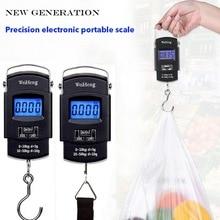 Junejour 50Kg/10g LCD báscula de equipaje Digital portátil retroiluminado gancho colgante balanza electrónica Balanza de peso de viaje de pesca