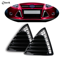 2pcs LED DRL Day Light For Ford Focus 3 2012 2013 2014 Daytime Running Light Waterproof Fog Lamp car styling Free shipping