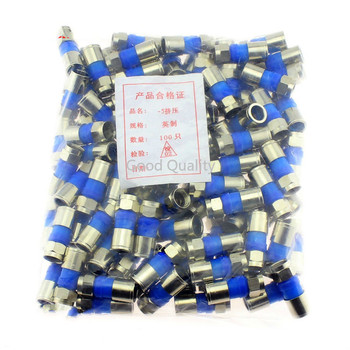 10pcs All Copper 75 - 5 Extruded F Head Inch Metric F Connector 75 - 5 Cable TV Line 24 Shielding Is Universal image