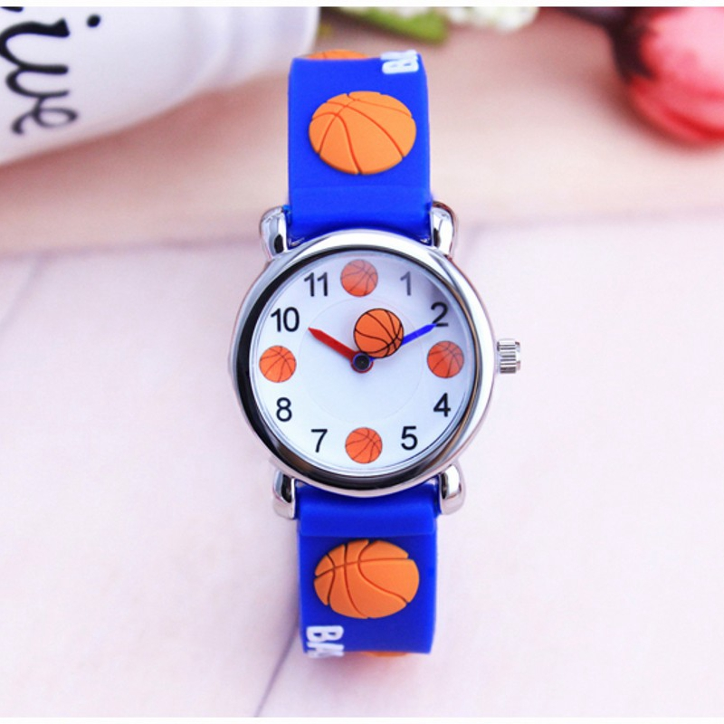 Watches Creative Fashion Cartoon Football Basketball Style Childrens Watches Kids Student Girls Boys Quartz Leather Wrist Watch Clcok Jm111