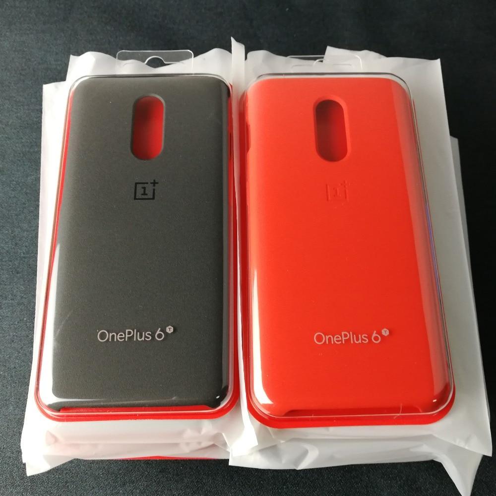 Oneplus 6 cas d'origine 100% Officielles shell flip D'origine couverture Silicone Grès En Nylon pour un plus 6 t oneplus 6 t cas