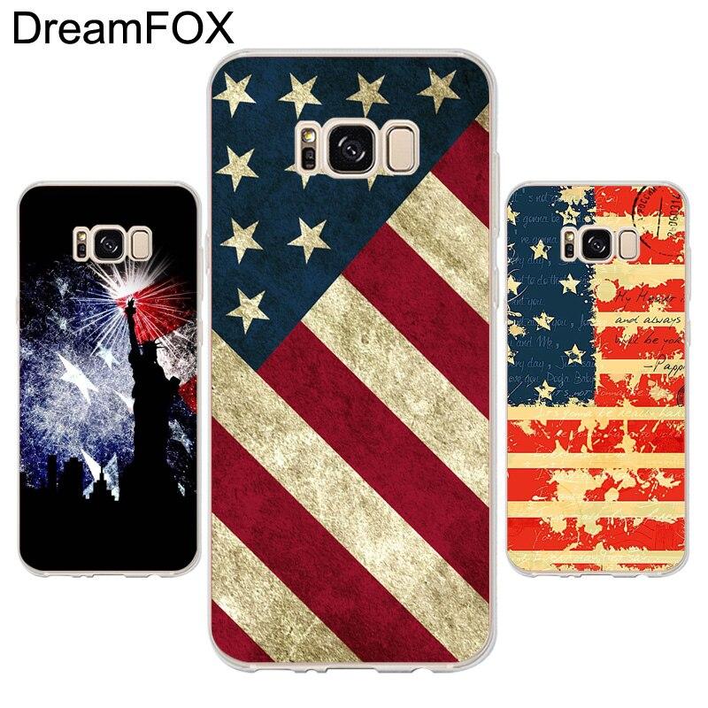 Dreamfox K013 американский флаг Мягкие TPU силиконовый чехол для Samsung Galaxy Note s 3 ...