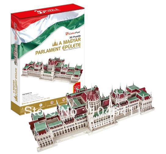 A Maygyar Parlament Epulete CubicFun 3D educational puzzle Paper&EPS Model Papercraft Home Adornment for christmas birthday gift petronas towers cubicfun 3d educational puzzle paper
