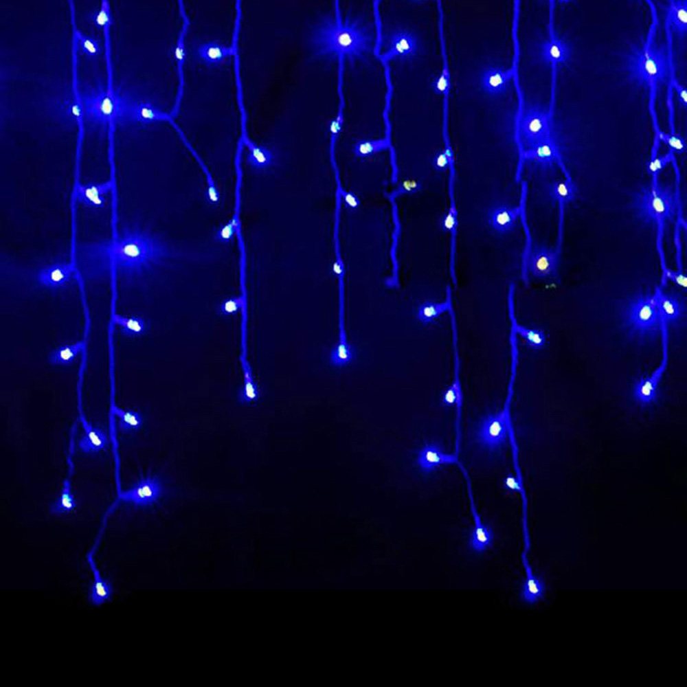 christmas lights outdoor decoration 4 meter droop 0.3-0.5m led curtain icicle string lights new year wedding party garland light 1