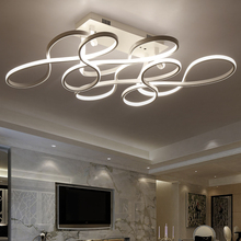 ФОТО CUICAN  modern led ceiling chandelier lights for living room bedroom square art Indoor acrylic Ceiling chandelier Lamp Fixtur