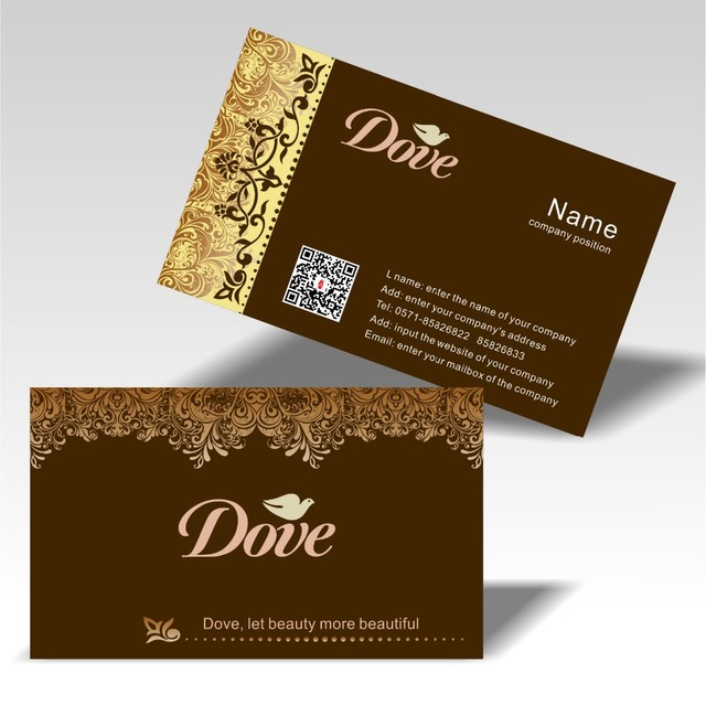 2015 Chaude Horizontal Conception Cartes De Visite Couleur Impression Logo Et Dimension Code Belle Fleur