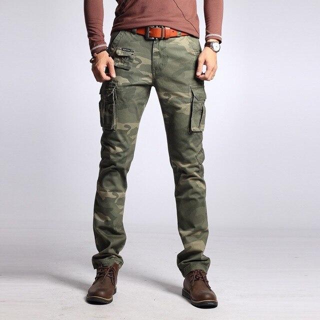 New Brand Men's Cargo Pants Men's Straight Multi-pocket Camouflage Military Pants Men's Cotton Loose Casual Men's Cargo Pants