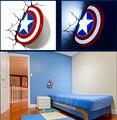 3D Light Captain America Shield bed lights iron lamp kids led lamp book light led led light wall avengers lamp