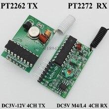 Радиочастотный передатчик приемник модуль системы 4CH Кодирования Модуль приемника-передатчика PT2262 PT2272 мгновенное блокирование
